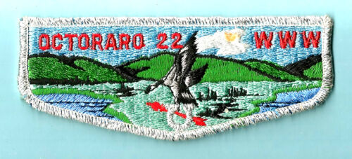 2 OA Lodge 22 OCTORARO S- smy+grn bdr flaps Chester Cncl vg w/spots Boy Scout PA