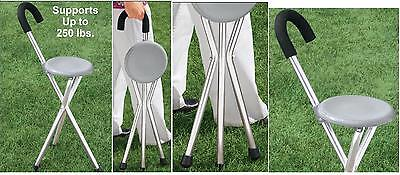 Handy Seat - Handy Cane Seat XL, Provides Support While You Walk, Seat Supports 250 Pounds