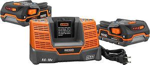 Details about 2 RIDGID 18 VOLT X4 Hyper Lithium-Ion Batteries and 1