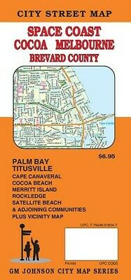 City Street Map of Space Coast, Melbourne, Cocoa & Brevard Co., Florida, by GMJ