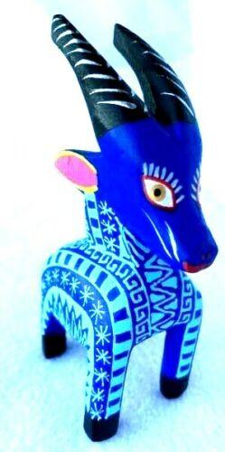 GOAT Alebrije Hand Crafted Wood Carving Oaxacan Folk Art Oaxaca Mexico