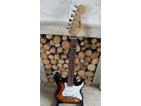 Vintage Fender Stratocaster Strat Squier SE 22 fret full thickness body