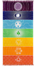Chakra Aligning Color and Symbols Tapestry Flag Throw - Meditation & Yoga Decor