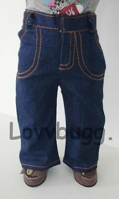 "Lovvbugg Flared Blue Jeans Denim Pants Clothes for 18"" American Girl Doll Clothes"