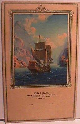 R. ATKINSON FOX PRINT - GOOD SHIP ADVENTURE - 1930S CALENDAR