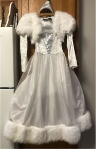 White Princess Dress and Tiara