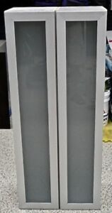 TWO FROSTED GLASS DOOR CABINETS - SELL THIS WEEKEND!