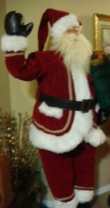 For Christmas, Waving Santa Claus 6 ft animated prop doll