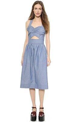 JILL STUART Brigitte Cutout Denim Dress Size US 2 UK 4 XS Most Beautiful