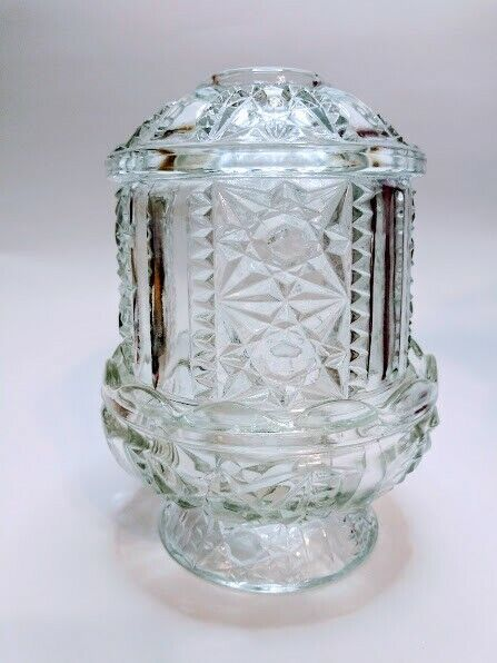 Fairy Lamp by Homco Home Interiors Clear Glass 1188-3 BD Crystal