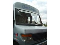 Bus converted into 4 berth motorhome