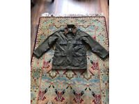WOMENS - VINTAGE 1980's Barbour **Rare Barbour Bedale 2 Royal Crest Waxed Jacket **