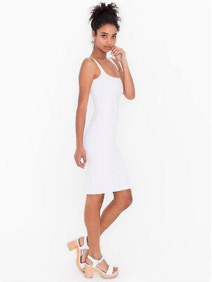 Brand New American Apparel White Ponte Tank Dress Size Large