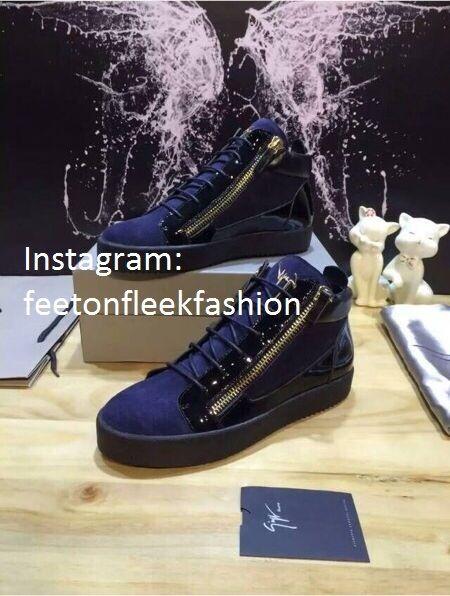 Kriss blue velvet sneaker Giuseppe Zanotti udx8oQKkQA