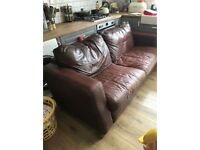 Leather Sofa And Armchair.........Free to a good home