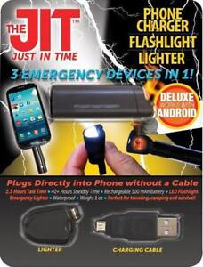 New - JIT - SURVIVAL ACCESSORY FOR PHONES - CHARGER/FLASHLIGHT/LIGHTER - HANDY POCKET SIZE - AMAZING SURPLUS PRICES !!