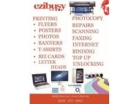 Same day or next day Cheap Banner, Business Card, Flyer/Leaflet and Poster Printing from only £5