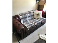 Set of Oxblood Red - Vintage Leather Chesterfield Sofas