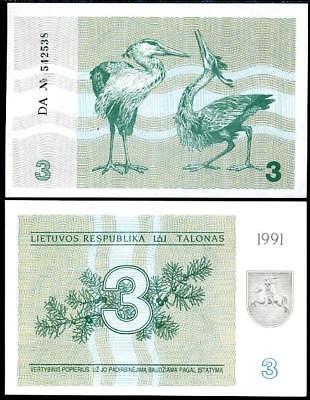 Lithuania 1991-0,10 talonas Pick 29a UNC