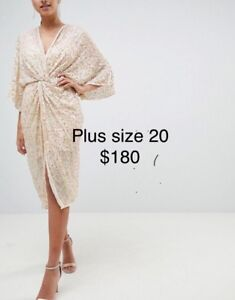 Brand New Plus Size Sequine Dress.  Very generous in size.