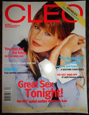 Aussie Cleo 1995 Claudia Schiffer Charlize Theron Keith Richards Elle Macpherson