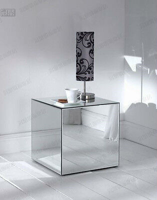 Mirror Cube Table - Mirror Glass Cube Table furniture exhibition shows foldable Display