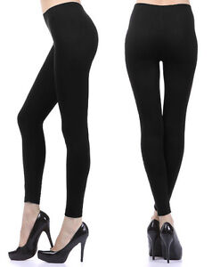 Full Length Leggings Footless Stockings Long Solid Pants Tights Stretch Seamless
