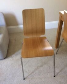 4 wooden chairs - £40 - excellent condition - collection from Surbiton