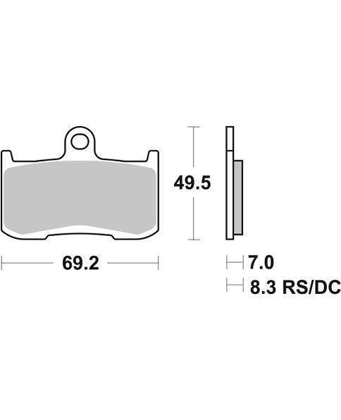 Victory Kingpin All Models 1634 08 09 10 11 12 SBS Performance Front Evo Sinter Sintered Street Upgrade Brake Pads Set Genuine OE Quality 782SP