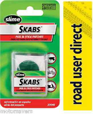Slime Skabs  6 Glueless Bike Puncture Patches - For All Bikes