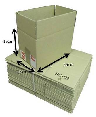 Pack of 50 Single Walled Cardboard Mailing Boxes Brown