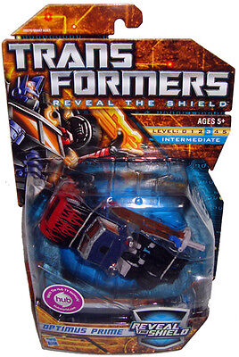 "Hasbro Year 2010 Transformers ""Reveal The Shield"" Series Deluxe Class 6 Inch Tall Robot Action Figure - Autobot OPTIMUS PRIME with Sword (Vehicle Mode Armored Rig Truck) - 28570"