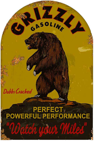 Grizzly Gasoline Sign