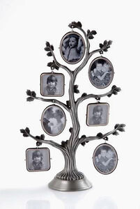 Pewter Family Tree Photo Frame Great Mothers/Fathers Day Gift