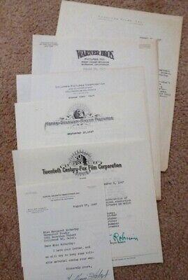 (6) Movie Studio Letterheads - Samuel Goldwyn, 20th Century, MGM, Columbia- 1947
