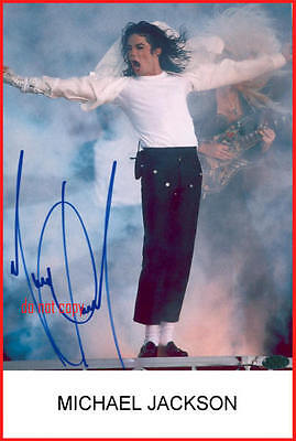 Michael Jackson Repro-Druck-Autogramm signed Preprint