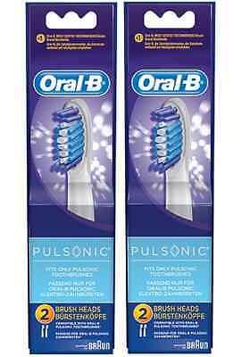4 ORAL-B PULSONIC Replacement Toothbrush Brush Heads NO Precision Tip Braun NEW Braun Oral B Replacement Brush