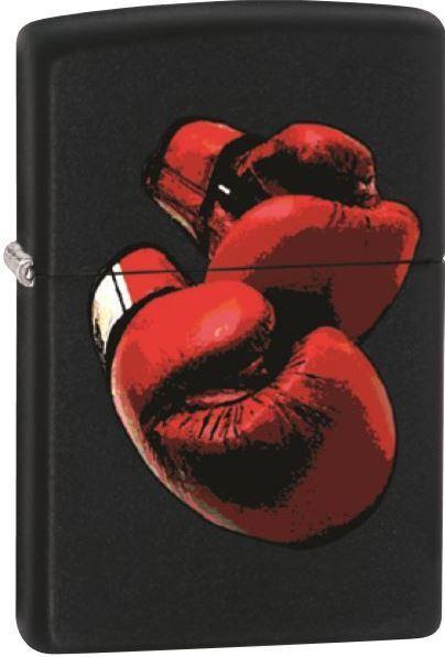 Zippo Red boxing gloves, Black Matte WindProof Lighter NEW RARE