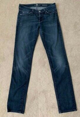 7 For All Mankind Jeans Women's Roxanne Straight Leg Med Wash Blue Denim 26 x 32 7 For All Mankind Jeans Roxanne