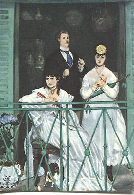 Alte Kunstpostkarte - Edouard Manet - Der Balkon