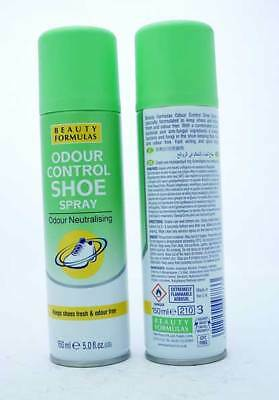 BEAUTY FORMULAS SHOE FOOT ODOUR CONTROL SPRAY ANTIBACTERIAL ANTIFUNGAL 150ML
