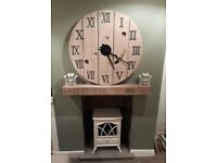 WonkyDonk upcycled cable reel large painted clock