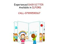 Experienced babysitter available in ilford