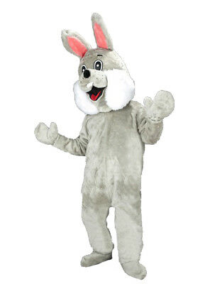 Bunny rabbit hare costume mascot easter deluxe plush furry cosplay adult NEW 74p