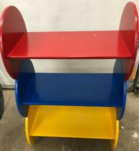 Childrens' Red, Yellow and Blue stackable shelves
