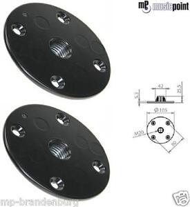 2 Stück Flansch / Boxenflansch für Lautsprecherstative mit  M20 Gewinde AdamHall