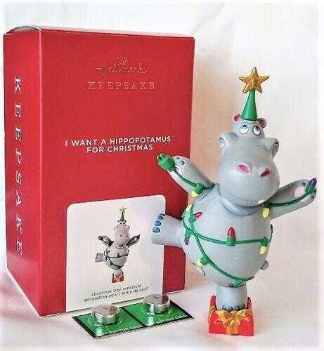 Hallmark 2021 I Want a Hippopotamus for Christmas Musical Ornament