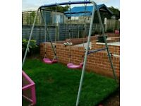 Kids Double Garden Swing