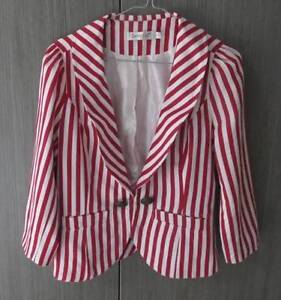 SUNNYGIRL JACKET WOMANS SIZE 12 RED & WHITE COLOUR Barnsley Lake Macquarie Area Preview