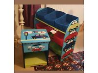 Childrens furniture toy storage cars